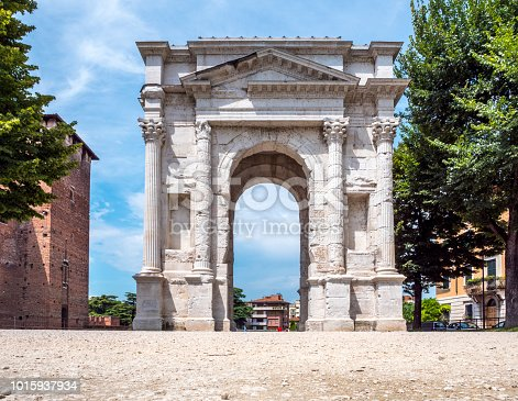 The Arco dei Gavi. Arch of Gavi , an ancient structure in Verona