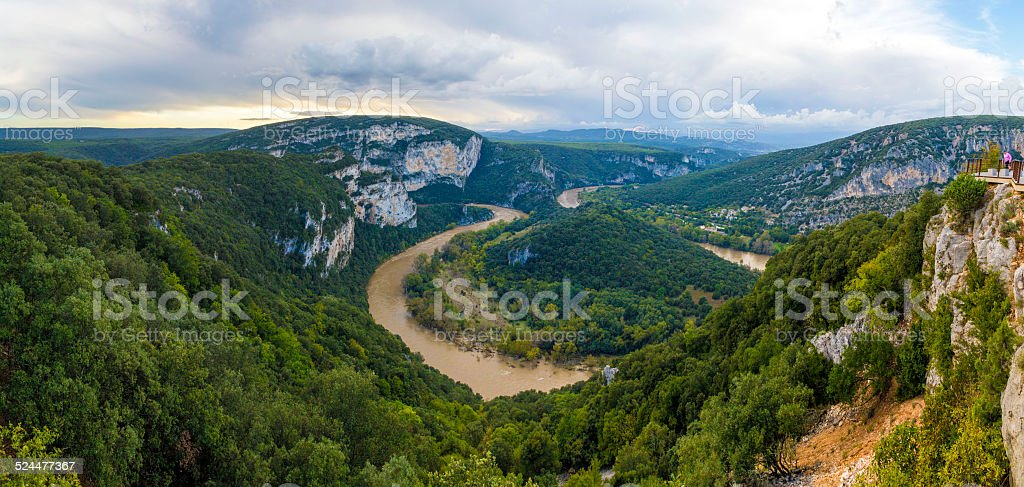 The ardech region of france. stock photo