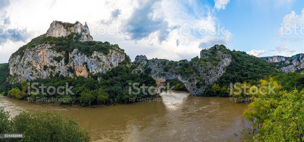 The ardech region of france. Vallon pont d'arc stock photo