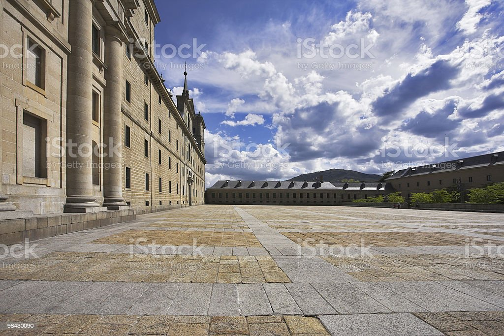 The area and stately royal palace royalty-free stock photo