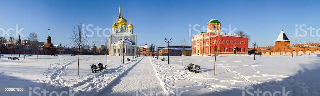 The area of the city of Tula stock photo