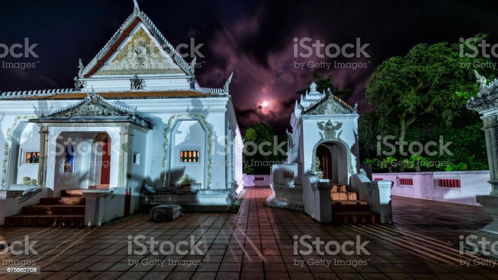 The area of Wat Khu Tao,  Bang Klam, Songkhla, Thailand royalty-free stock photo
