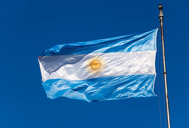 The Argentinean flag stock photo