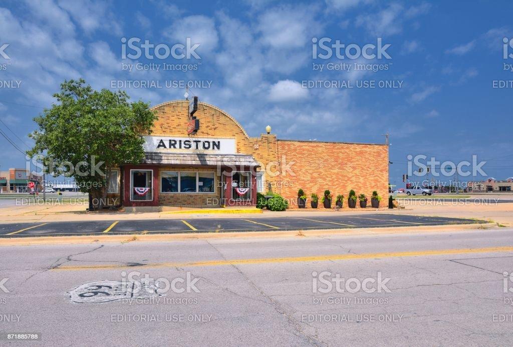 The Ariston Cafe stock photo
