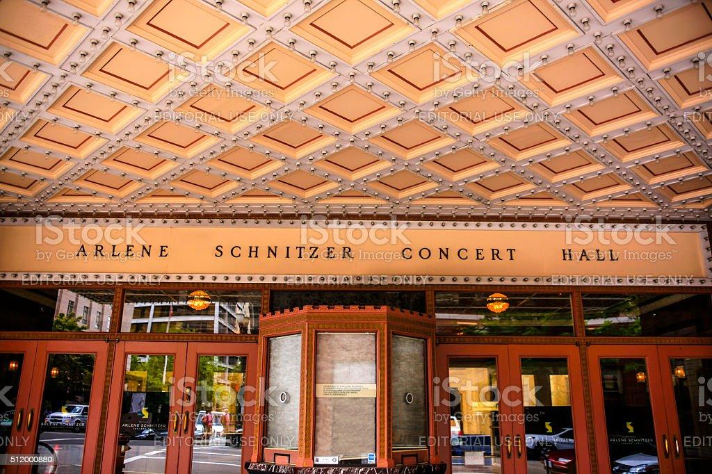 The Arlene Schnitzer Concert Hall in Portland Oregon stock photo