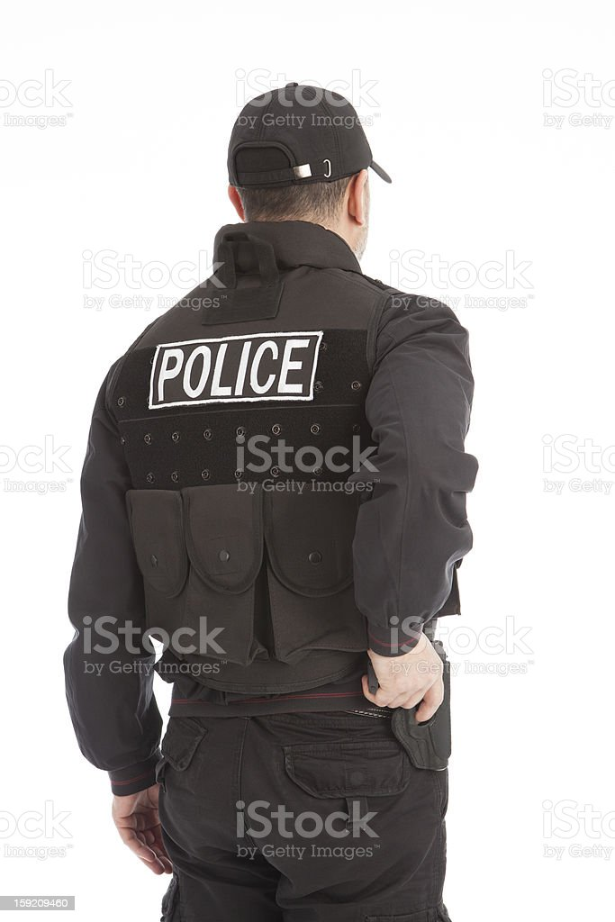 The armed person. stock photo