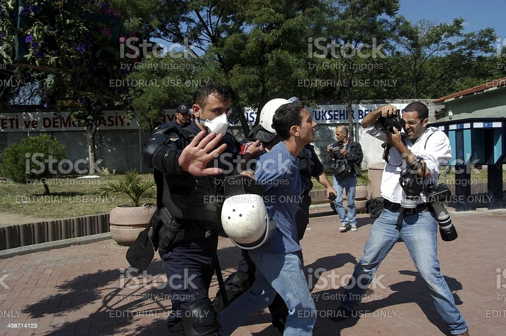 The Arrested Demonstrators royalty-free stock photo