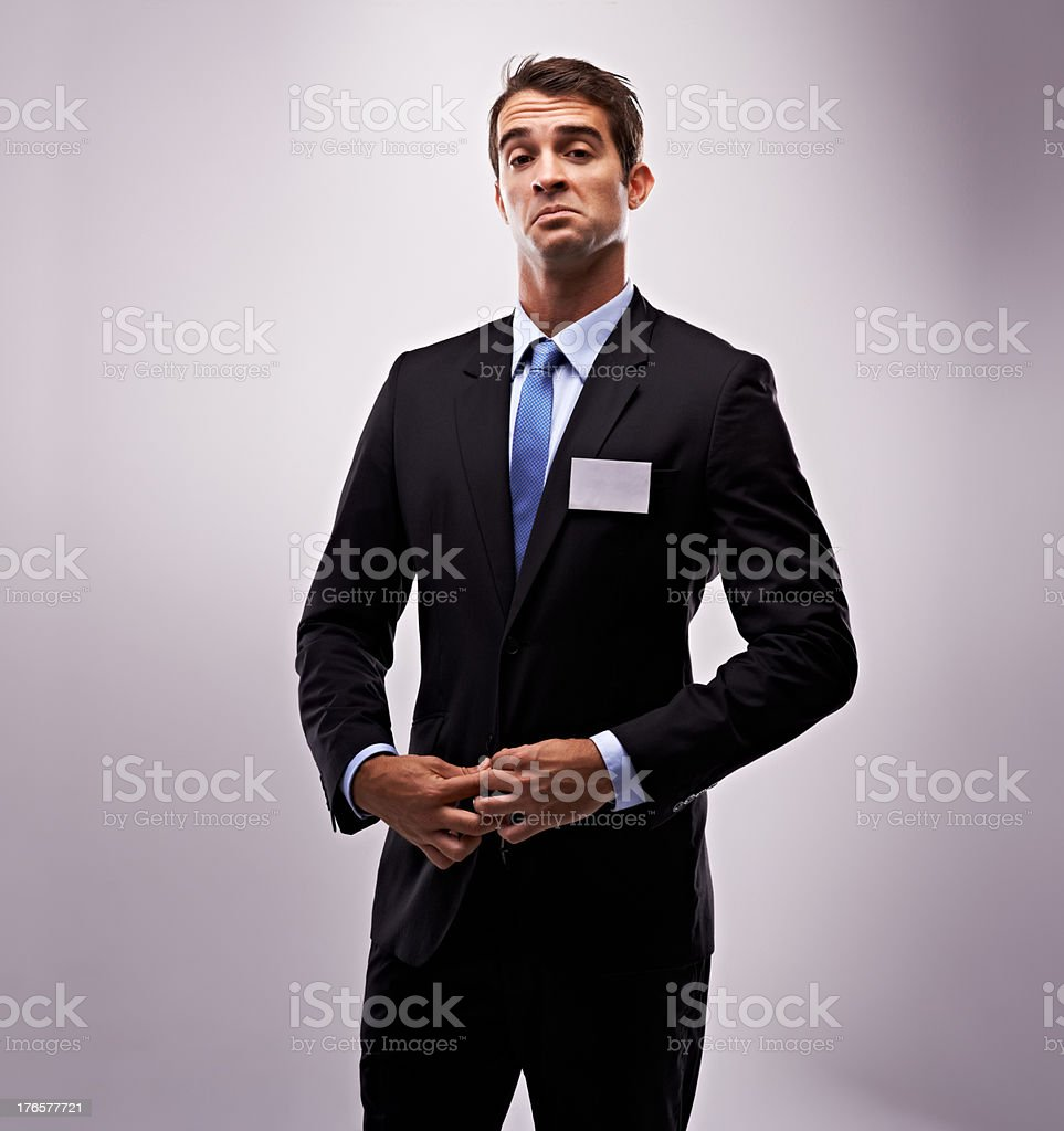 The arrogant Boss stock photo