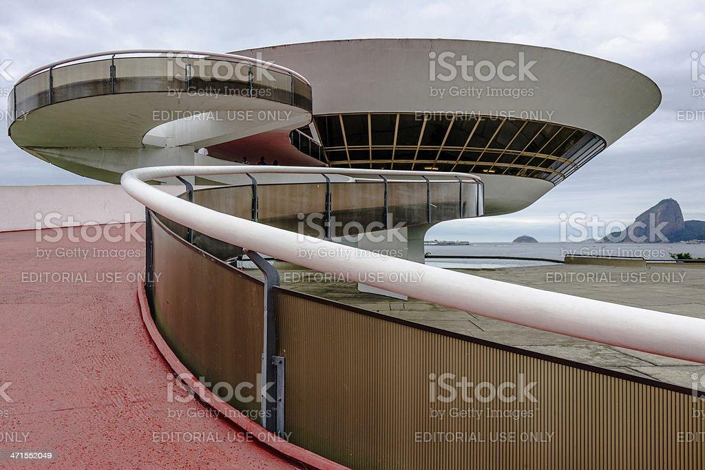 the Art Museum in Niteroi, Brazil stock photo