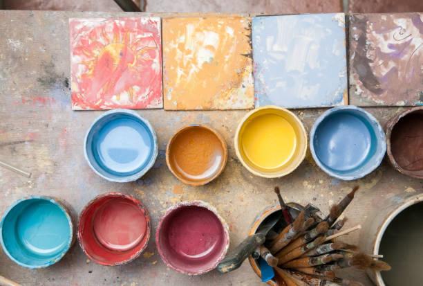a arte da cerâmica - cerâmica artesanato - fotografias e filmes do acervo