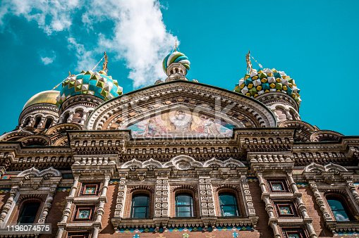 The Art Of Church Of The Saviour On Spilled Blood In St. Petersburg, Russia