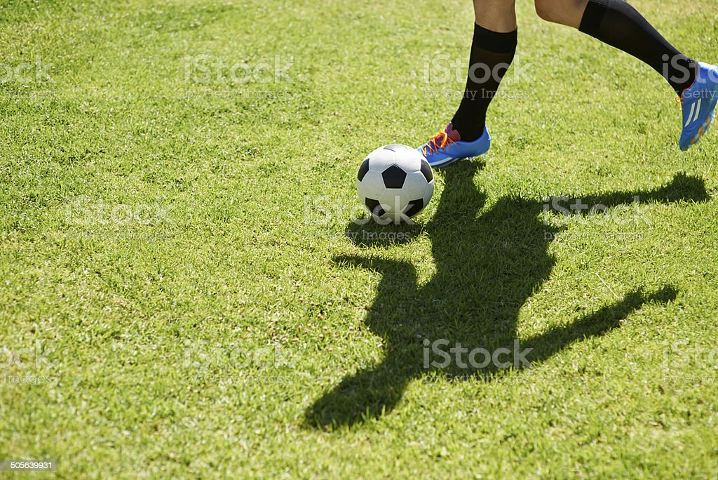 The art of dribbling stock photo