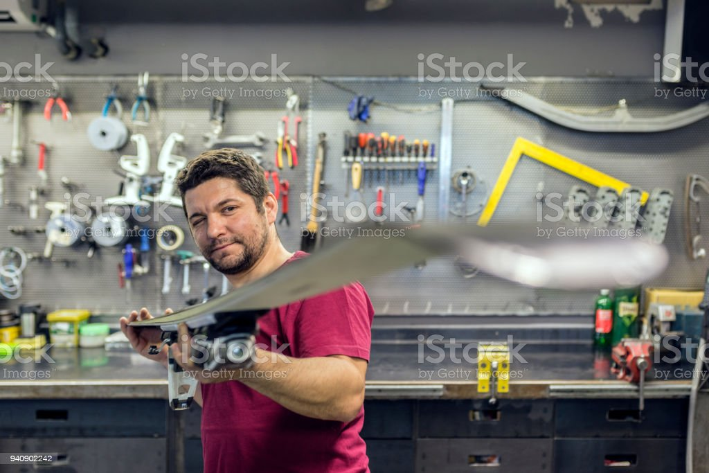 The art of fixing things stock photo