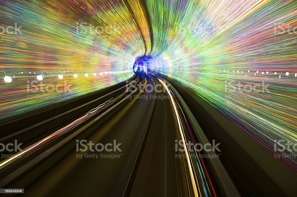 The art of making light tunnel royalty-free stock photo