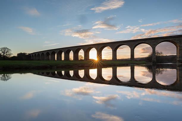 The Arthington Viaduct, North Yorkshire stock photo