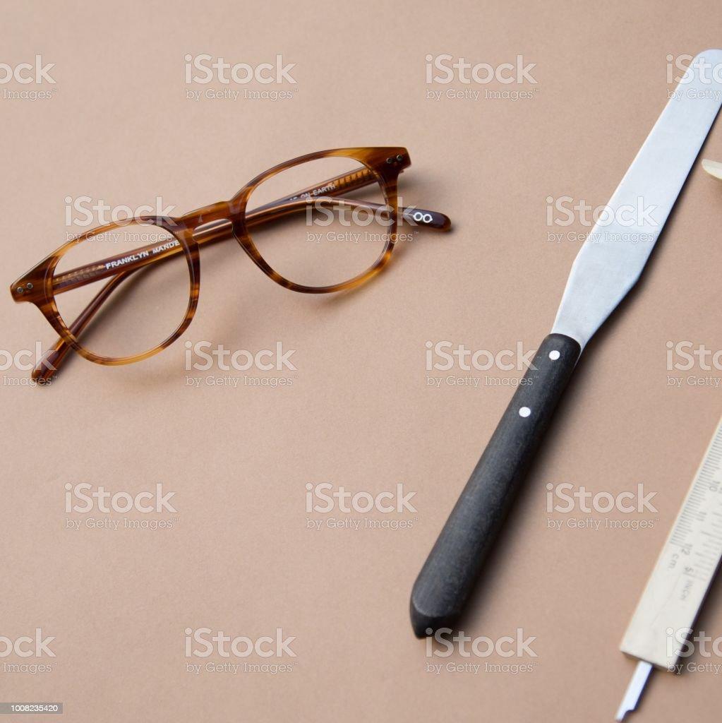 Las gafas de artistas - foto de stock