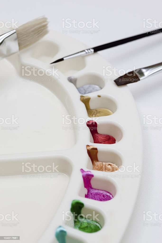 The Artists Palette royalty-free stock photo
