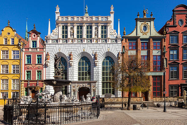 The Artus Court in Gdansk stock photo