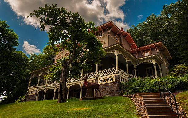 The Asa Packer Mansion, Jim Thorpe, Pennsylvania. stock photo