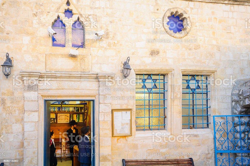 The Ashkenazi HaAri Synagogue, in the Jewish quarter, Safed (Tzf stock photo