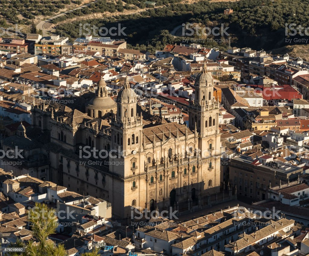 The Assumption of the Virgin Cathedral, Jaen. stock photo