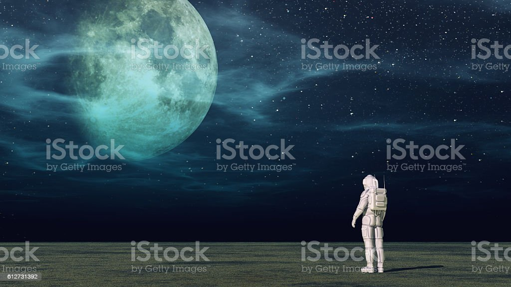 The astronaut stock photo