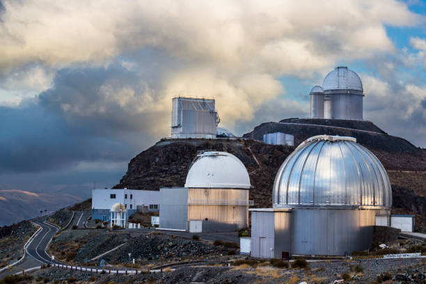The astronomical observatory of La Silla, North Chile. One of the first observatories to see planets in other stars. Located at Atacama Desert. stock photo