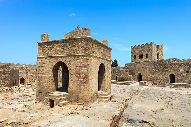 The Atashgah fire temple stock photo