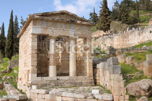 The Athenians Thesaurus In Delphi Stock Photo & More Pictures of Ancient