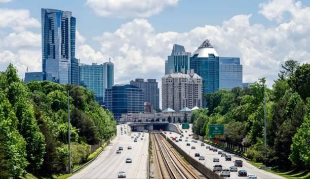 The Atlanta Skyline stock photo