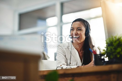 istock The atmosphere in the office is a happy one 843177320