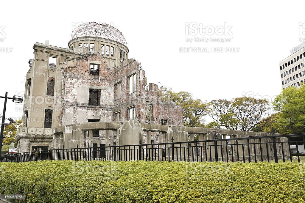 The Atomic Bomb (A-Bomb) Dome, Hiroshima, Japan royalty-free stock photo