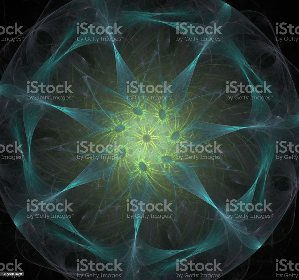 The atomic nucleus. Abstract representation. Image molecules and atoms stock photo