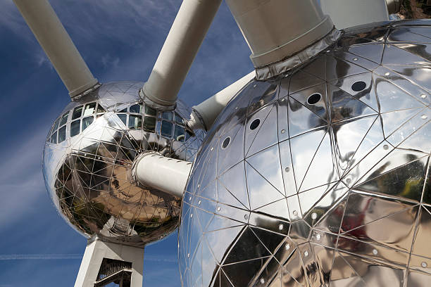The Atomium in Brussels stock photo