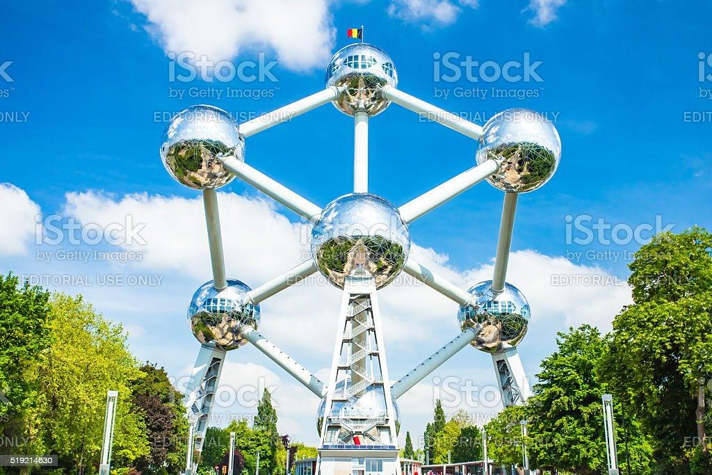 The Atomium landmark of Brussels, Belgium​​​ foto