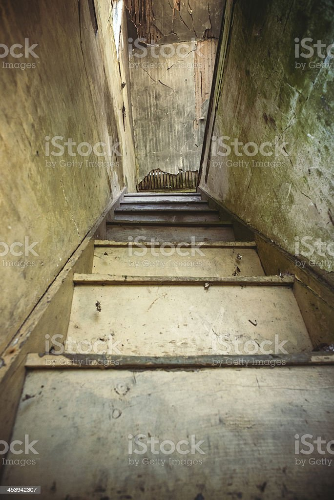 The Attic Staircase royalty-free stock photo