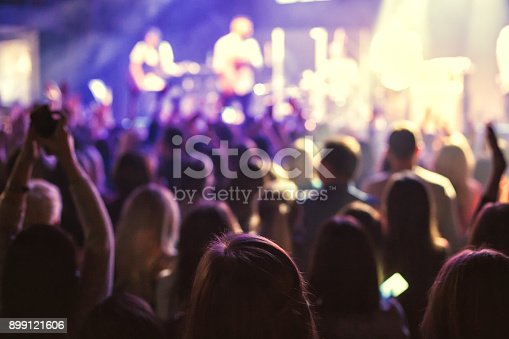 istock The audience watching the concert on stage. 899121606
