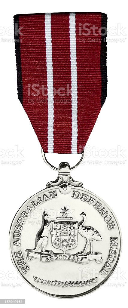 The Australian Defence Medal stock photo
