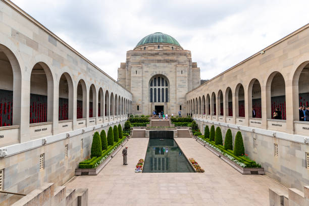 the australian war memorial - war memorial stock pictures, royalty-free photos & images