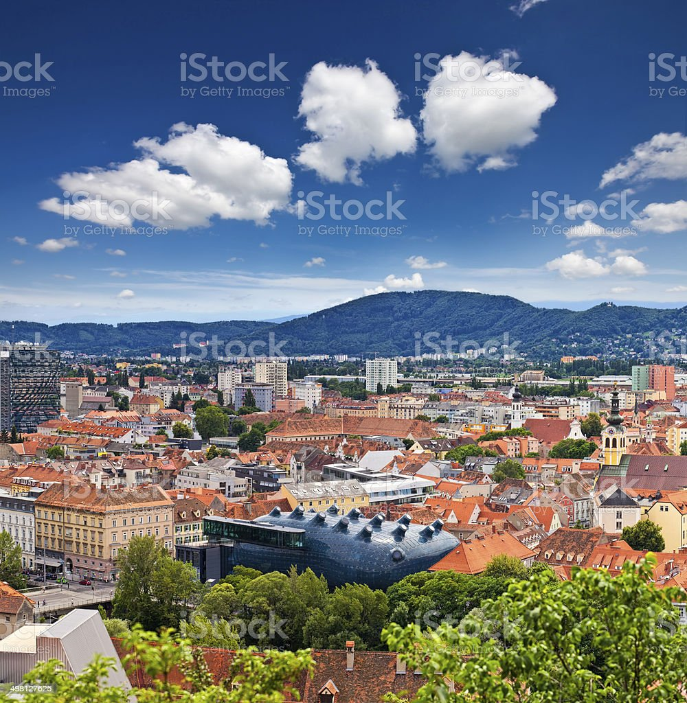 The Austrian city Graz stock photo