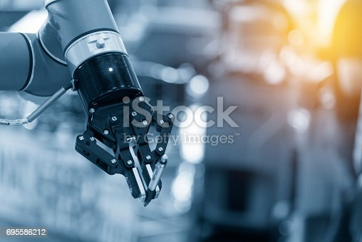 istock The automatic robot arm 695586212