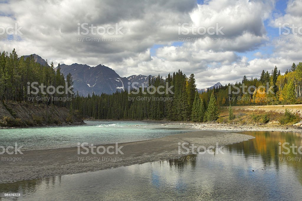 The autumn shallow river royalty-free stock photo