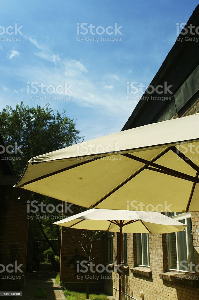 The awning royalty-free stock photo