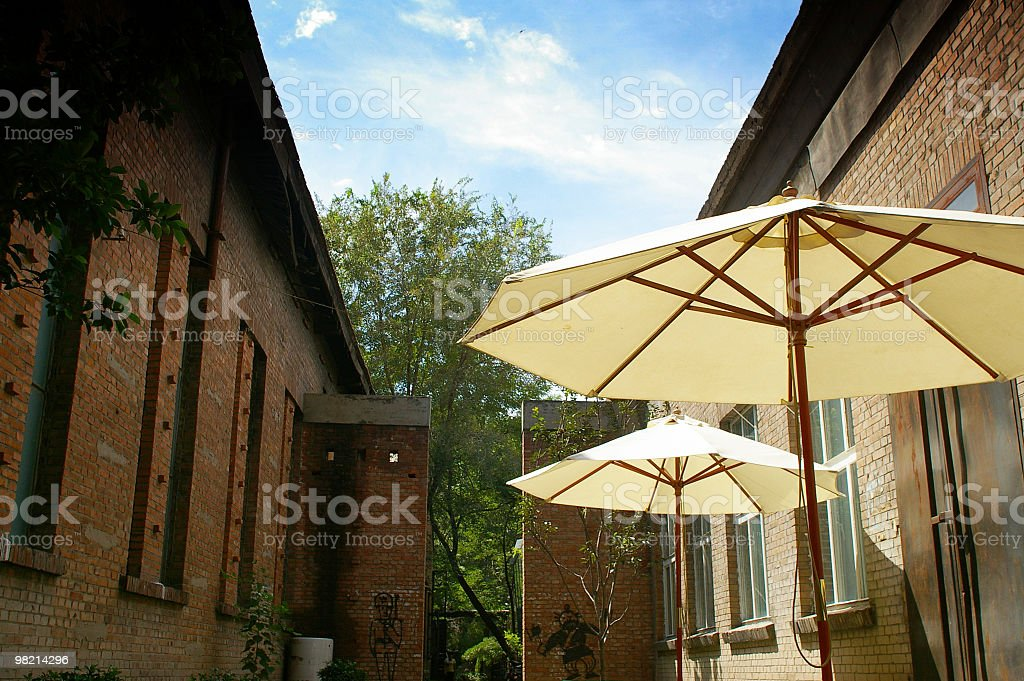 The awnings royalty-free stock photo