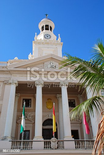 The Ayuntamiento Is The Town Hall Of Cadizs Old City Stock Photo & More Pictures of Ancient