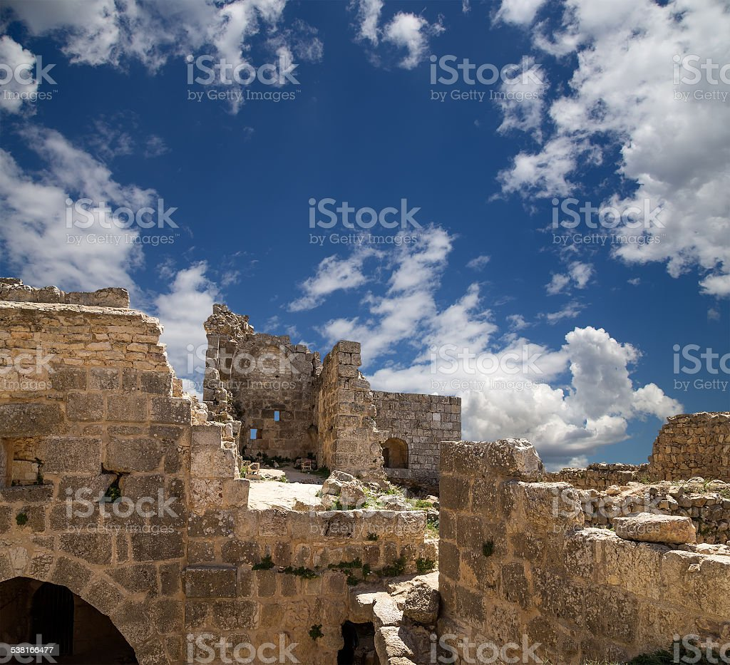 The ayyubid castle of Ajloun in northern Jordan, Middle East stock photo