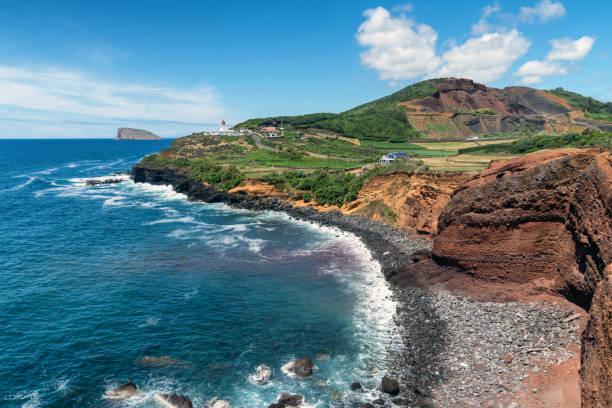 The Azores - beautiful coastline stock photo