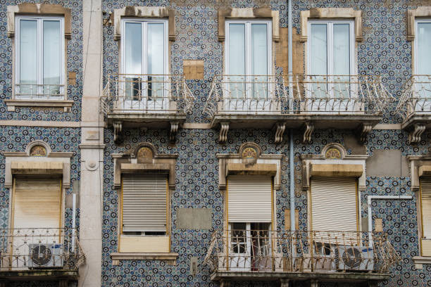 The Azulejo of Alfama, Lisboa stock photo