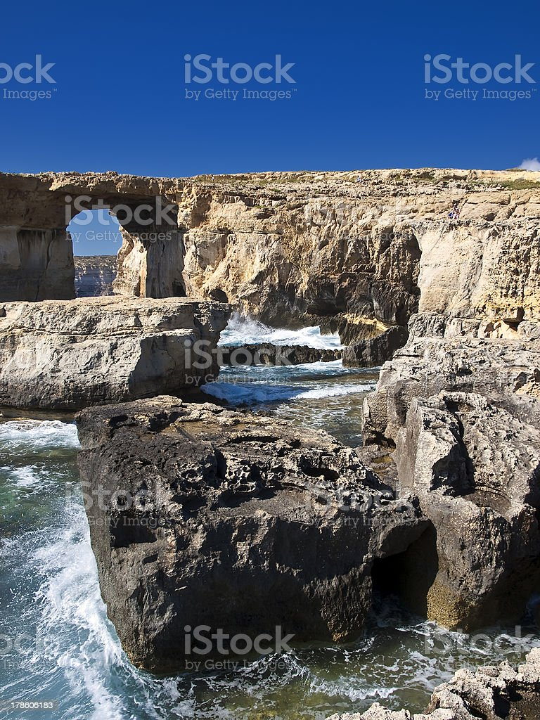 The Azure Window and Blue Hole royalty-free stock photo