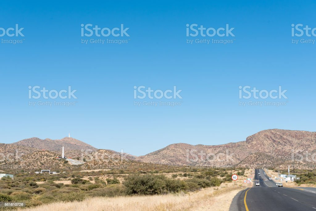 The B1-road to the South of Windhoek stock photo